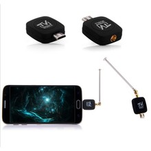 Micro USB DVB-T Tuner TV Receiver Dongle/Antenna DVB T HD Digital Mobile TV HDTV Satellite Receiver For Android Phone DVBT