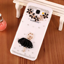 Luxury Bling Diamond Style Phone Case Shell for Samsung J3 2016.Cute Ballet Girl Cell Phone Case for Samsung Galaxy J3 Pro