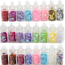 1set/lot(8 bottles)Glitter Powder Heart/Star Nail Art Sequins Tip Rhinestone Manicure Decorations Nail Sticker Set 083004051