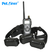 Petrainer 900-3 1000M Bark Control Remote Dog Trainer Electronic Collar with Static & Vibration For 3 dogs(China)