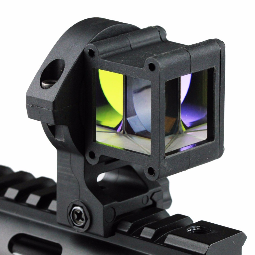 Tactical Reflect Angle Sight 360 Degree Rotate 4 Optical Sight Compatible With 20mm Weaver/Picatinny Rail<br>