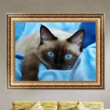 DIY 5D Diamond Switch Kit Embroidery Blue Eyes Cat Painting Mosaic Needlework Cross Stitch Home Decor 40*30cm