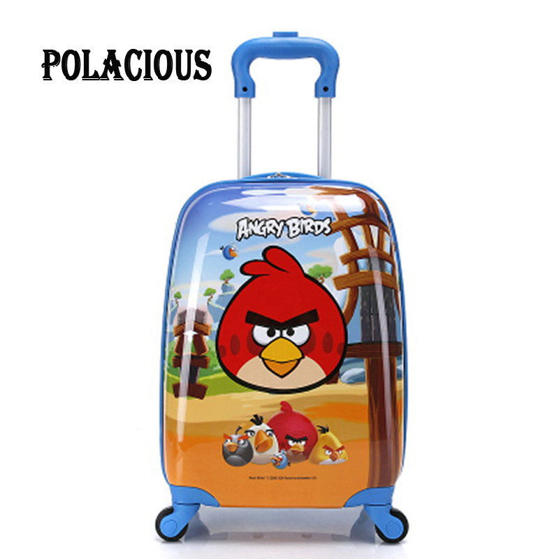 18 inch 2017 new ABS+PC cartoon Childrens suitcase Luggage/free shipping Children Luggage/Boy and Girl Cartoon trolley case box<br><br>Aliexpress
