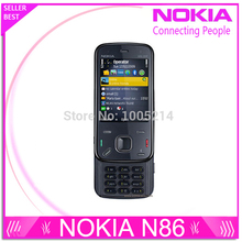 Refurbished Nokia N86 original unlocked GSM 3G WIFI GPS 8MP Mobile phone Black&White russian keyboard support free shipping