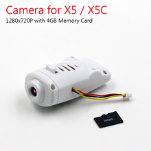 720P HD Camera for SYMA X5  X5C X5C-1 RC Drone Cam with 4GB Memory Card and Card Reader can Take Photo and Video