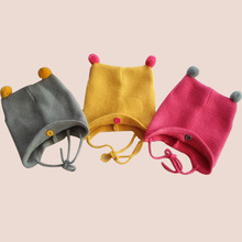 Fashion Autumn Winter Warm Cotton Baby Hat Girl Boy Toddler Infant Kids Caps Brand Candy Color Cute Baby Accessories for 6-24M(China)