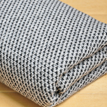 free shipping Tweed fabric black and white weaved pattern sold by yard 59""