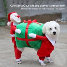 HURRISE Pet Dog Clothes Funny Santa Claus Christmas Dog Costumes Cute Puppy Cat Warm Winter Pet Coat Clothing ropa para perros
