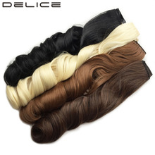 "[DELICE] 24""/60cm Women's Clip In One Piece Long Natural Wave High Temperature Fiber Synthetic Hair Extensions(China)"