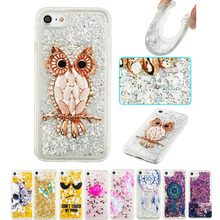 Phone Case for apple iphone 7 6 6S Plus 5 5S SE Flower cartoon glitter Bling Silicone Cover for ipod touch 5 6 Girl Coque Capa