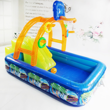 High quality multi slide swimming pool water pool baby ball pool children Castle pool 188X137X34CM(China)