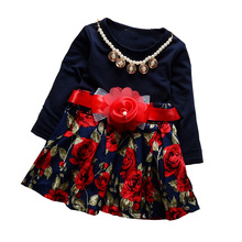 BibiCola Baby Girls Sport Dress Suit Toddler Kids Long Sleeve Girls Spring Princess Dress Bebe Party Clothing For Girls(China)
