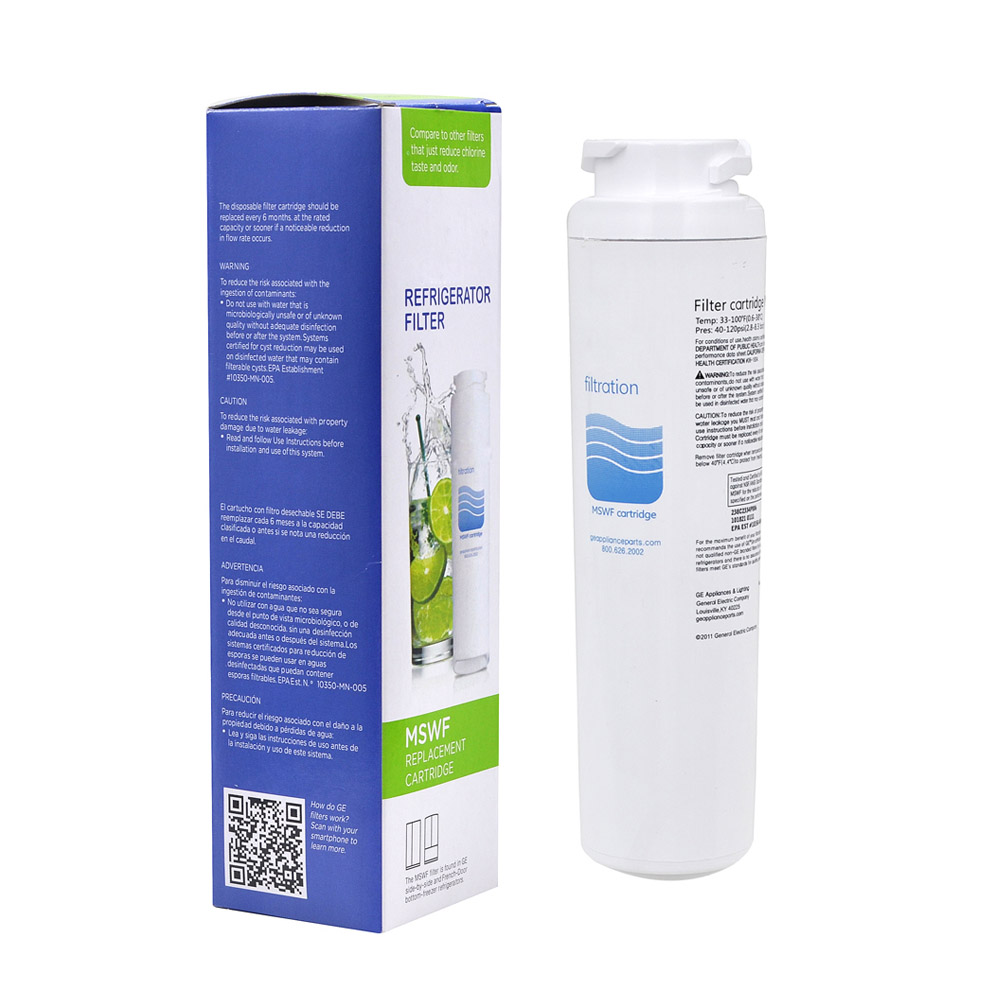 Water Filter Household Purifier Hydrofilter MSWF Refrigerator Water Filter Cartridge Replacement for GE MSWF Filter 1 Piece<br>