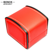BOSCK Red Leather PU Original Watch Boxes Dress Casual Antique Watch Box for Women Men Watches