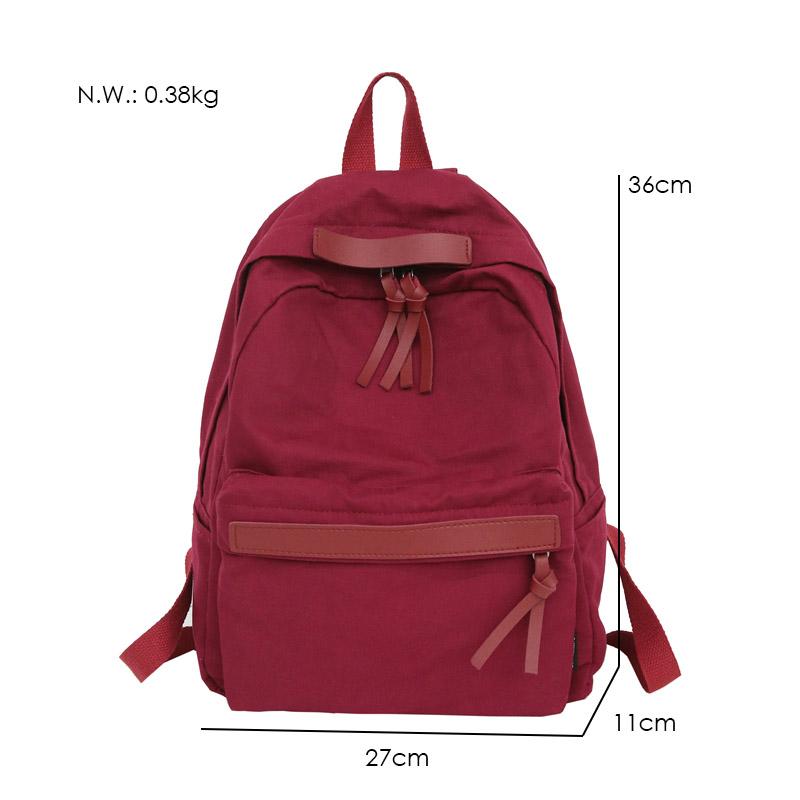 Menghuo High Quality Women Canvas Backpack Teenage Girls Leisure Backpack Bag Vintage Stylish Female School Bag Bookbag Mochilas (13)