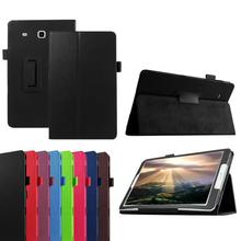 hot sale fashion Leather Stand Flip Case Cover For Samsung Galaxy Tab E T560 Fashionable and vintage style