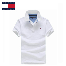 TOMMY HILFIGER collar logo pure color classic polo shirt for man