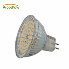 3W 5W SMD2835 Led Cup MR16 Glass Led Spotlight Halogen Light Lamp Bulb 12v DC Warm White Bulds For Living Room(China)