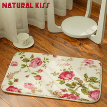 Natural kiss Floral Rose Living Room Big Area Villus Decoration Carpet Bedroom Soft Rugs Door Floor Mats Coffee Table Carpets
