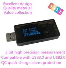 USB 3.0 OLED detector USB Charger Doctor voltmeter ammeter power capacity voltage current battery tester meter QC 2.0 3.0(China)
