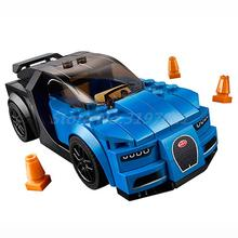 Lepin 28002 Super Racer Series Figure Speed Champions Chiron Blue Racing Car Building Block Set Model Bricks Toy For Kids 75878(China)