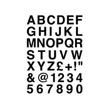16.2*23CM ALPHABET LETTERS & NUMBERS Personalized Custom Car Sticker Classic Vinyl Car Body Decals Black/Silver C9-0089(China)
