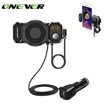 Onever 2 in 1 Phone Holder FM Transmitter Bluetooth For xiaomi roidmi mp3 player Support SIRI Function For bmw e46 car styling(China)