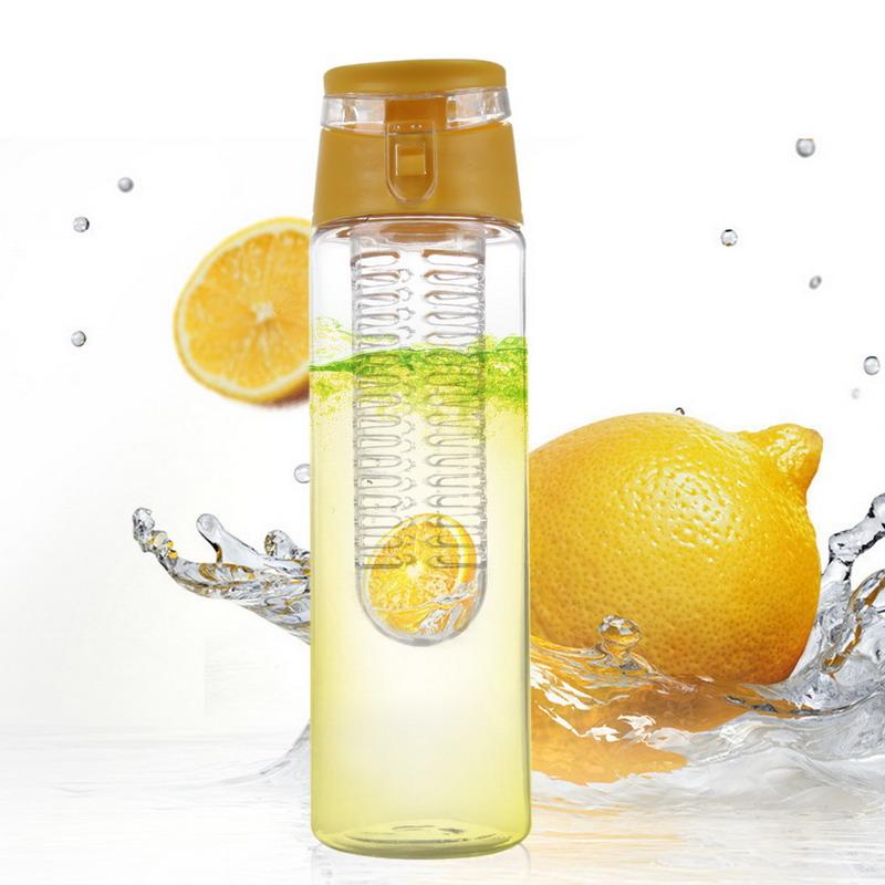 Portable Transparent Plastic Sports Water Bottle