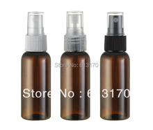 Free shipping 50ml brown Empty pet spray bottle cosmetic plastic parfume fragrances bottles for women or men(China)
