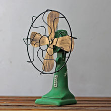 New Arrival Home Decor Vintage Miniature Fan Model Home Decoration Resin Craft Christmas Bar Shop Furnishing Articles Craft
