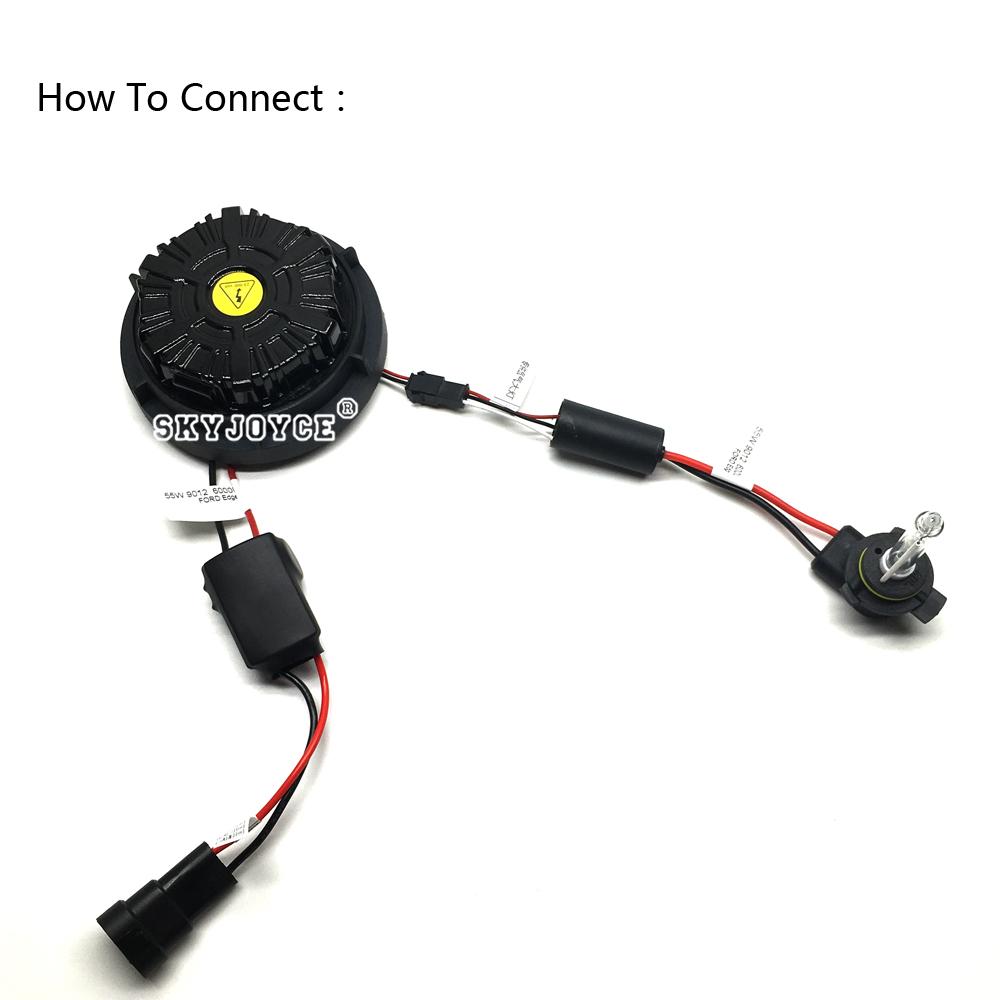 NO Error canbus 55W 9012 hid xenon kit Edge headlight 9012 bi-xenon kit 6000K HIR2 9012 xenon projector bulb brighter than 9012 (8)