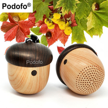 Podofo Mini Bluetooth Speaker Wireless Portable Speakers Cute Nut Unique Design Gift Built-in Mic Handsfree Phone Call(China)