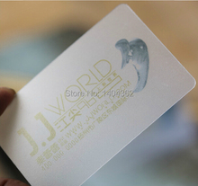 transparent PVC plastic custom name visit post business card printing,Full Color Frosted Rounded Corners(China)