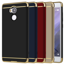 3 in 1 Case For Xiaomi Redmi 4 Pro 3S 3 S Note 4 4X Plastic Gold Phone Bag Case Back Cover Luxury For Xiaomi Redmi Note 4X(China)
