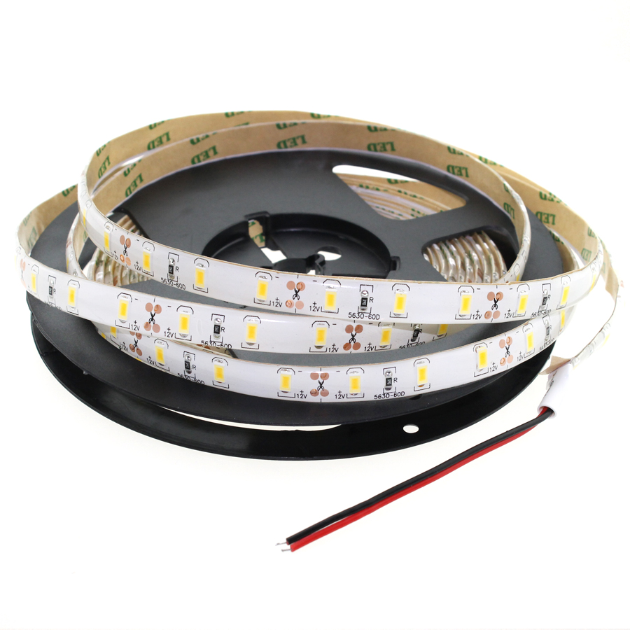 1m/2m SMD 5630 12V 60LEDs/m Blue/White/Warm WhiteWaterproof LED Strip IP20/IP65 Flexible Light Home Decor (A11,A12)
