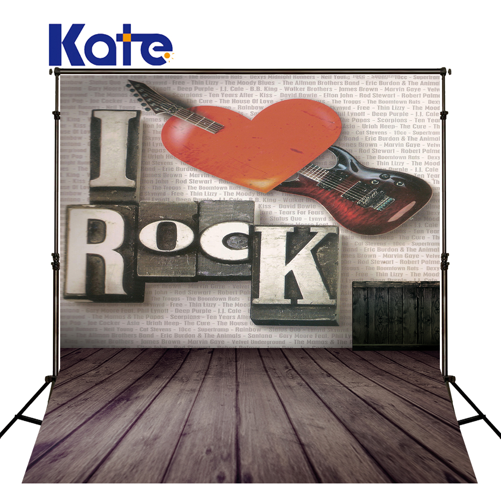 5*6.5Ft(1.5*2M) Kate Thick Cloth Background Electric Guitar Tone Heart Brick Background  Photographic Studio Background<br>