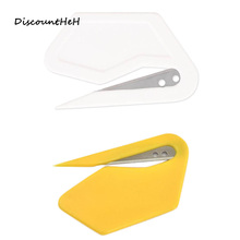 Plastic Mini Letter Knife Letter Mail Envelope Opener Safety Paper Guarded Cutter Blade Office Equipment(China)