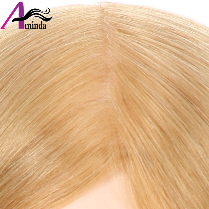 46CM Golden Blonde Hair Styling Dolls Heads Hairdressing Mannequin Head With 100%Real Human Hair Dummy For Hairstyles (8)