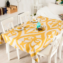 Table decor American style Rural Yellow classic 521 Linen Tablecloth TV Tablecloth Refrigerator Wedding Cover Home Decorative(China)