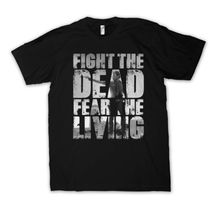 Fight The Dead Fear The Living T shirt Men The Walking Dead Fan Shirt casual gift tee USA Size S-3XL
