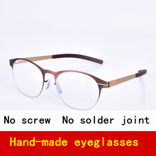 Screwless Brand Glasses frame man Round Frame Retro style suitbale for any face eyeglasses for myopia and reading eyewear Oculos(China)