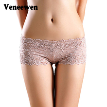 Sexy Brand Underpants Women Boxer Shorts Lace Panties Boyshort Female Knickers Full Lace Transparent Boxers Underwear
