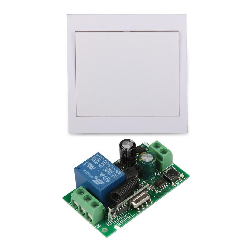 433 MHz RF 86 Wall Panel Wireless Remote Control Hall Living Room Bedroom Switch Transmitter With
