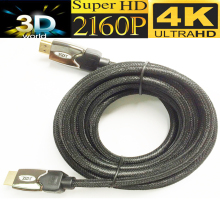 Braided Ultra HD HDMI cable 5M 15ft HDMI 2.0 cable 4kX2K with mesh&metal shell Triple-shielded