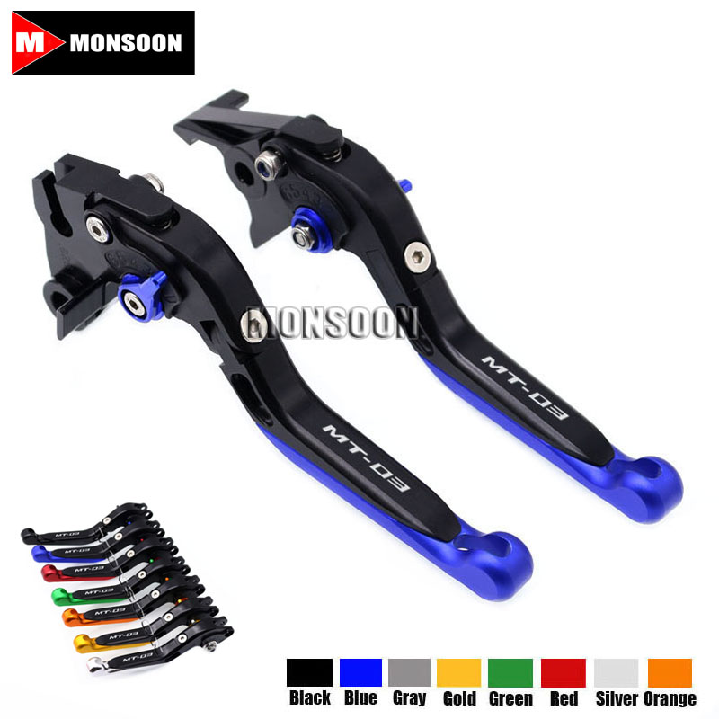 For YAMAHA MT-03 MT03 MT 03 2005-2009 2006 2007 2008 Motorcycle Folding Extendable Brake Clutch Levers Black<br>