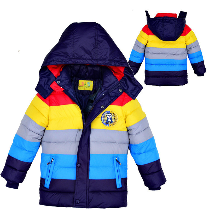 Baby Winter Children outerwear Kids clothes hooded down coat girls boys coat striped baby clothing jackets for boys girlsОдежда и ак�е��уары<br><br><br>Aliexpress