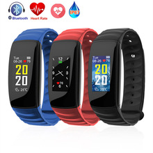 Color Screen Smart Bracelet H107 Blood Pressure Heart Rate Monitor Intelligent  Fitness Tracker Smartband Wristband Smartwatches