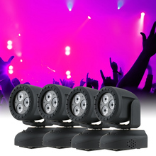 led light dj laser christmas lights c Moving Head Light Wash Effect Stage Lamp Support Sound Activation(China)