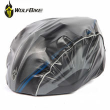 WOLFBIKE New Arrival Waterproof Helmet Cover For Cycling Riding Windproof Dustproof MTB Road Bike Bicycle Helmet Cover Black*