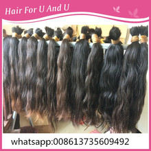 very good quality 1kg 20inch to 40inch 100% Virgin Remy raw human hair bulk Salon Beauty material Extension braid wholesale